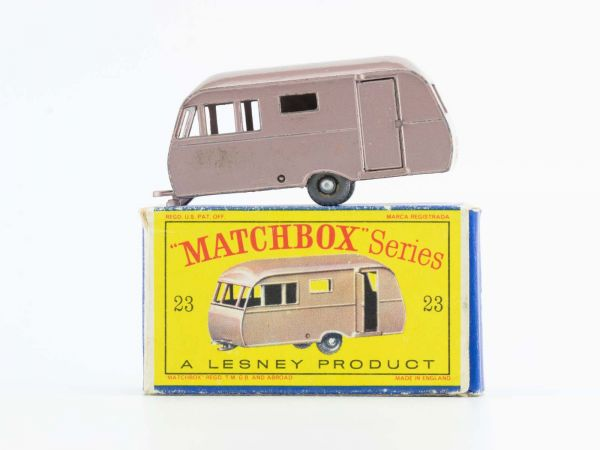 Matchbox Lesney 23 Caravan Trailer Bluebird OVP