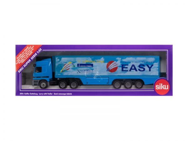 Siku 3816 Mercedes Koffer Sattelzug (EASY - Express Air Systems) 1:55 OVP