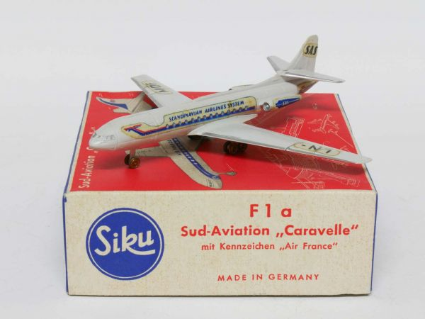 Siku F1b Flugzeug Sud Aviation (SAS - Scandinavian Airlines System) 1:250 OVP