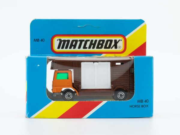Matchbox 40 Horse Box Pferdetransporter OVP