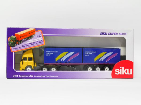Siku 3424 Iveco Container-LKW (INTERNATIONALER CONTAINER DIENST) OVP