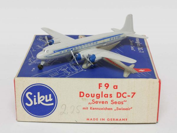 Siku F9b Flugzeug Douglas DC-7 Seven Seas (Royal Dutch Airlines) 1:250 OVP