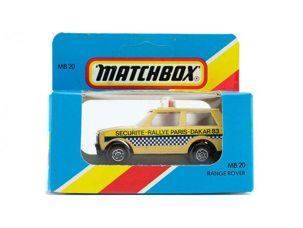 Matchbox 20 Range Rover (Securite Rallye Paris Dakar 83) OVP