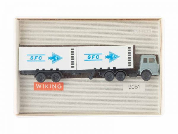 Wiking 9051 Container Sattelzug (SFC) 1:160 (Spur N) OVP