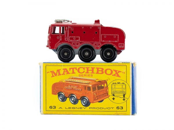 Matchbox Lesney 63 Fire Airport Crash Tender Truck OVP